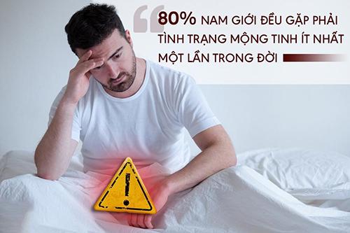 Hầu hết nam giới đều gặp phải mộng tinh ít nhất 1 lần