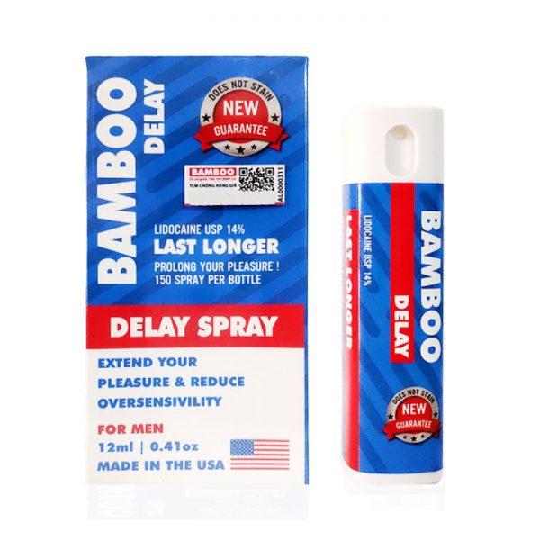Xịt chống xuất tinh sớm Bamboo Delay Spray USA,