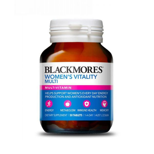 Thuốc bổ cho nữ Blackmores Womens Vitality Multi
