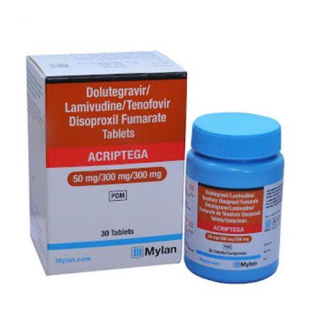 Thuốc kháng Virus HIV Mylan Acriptega 50mg/300mg/300mg