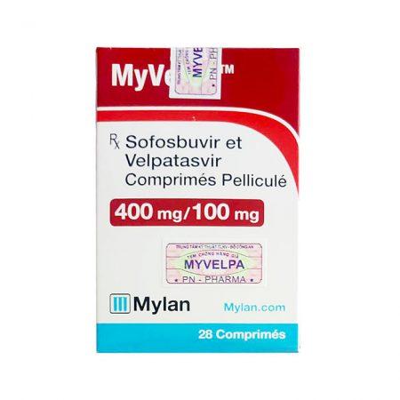 Thuốc điều trị viêm gan C Myvelpa