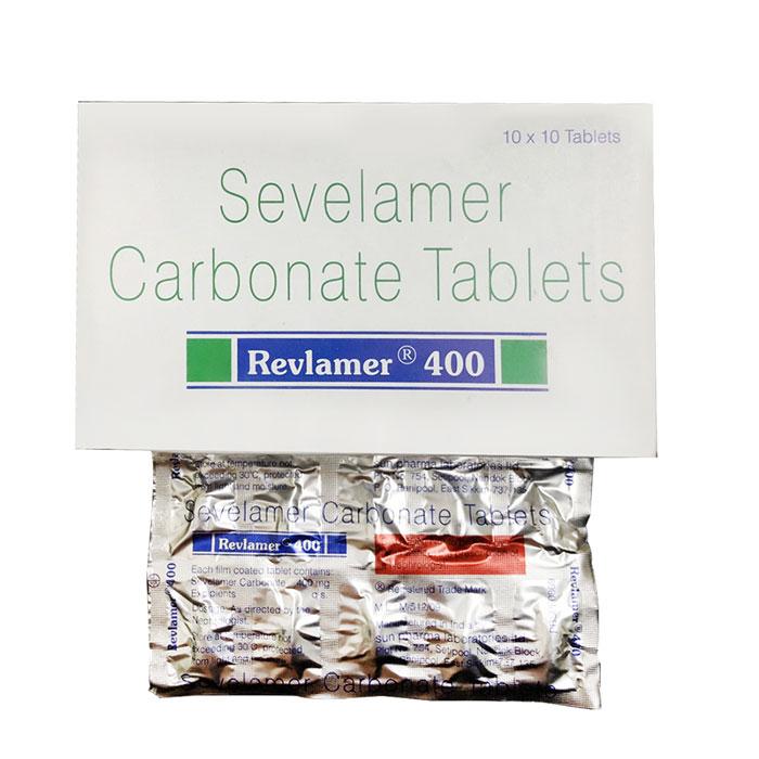 Thuốc thận Revlamer 400 Sevelamer Carbonate Tablets