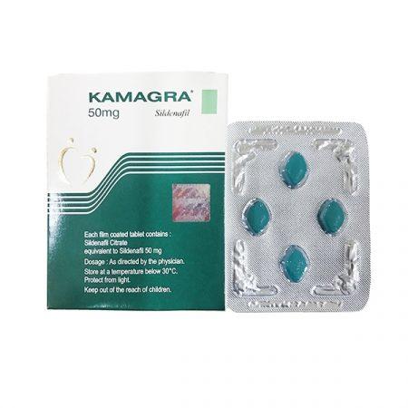 Thuốc cường dương Kamagra 50mg, Hộp 4 viên