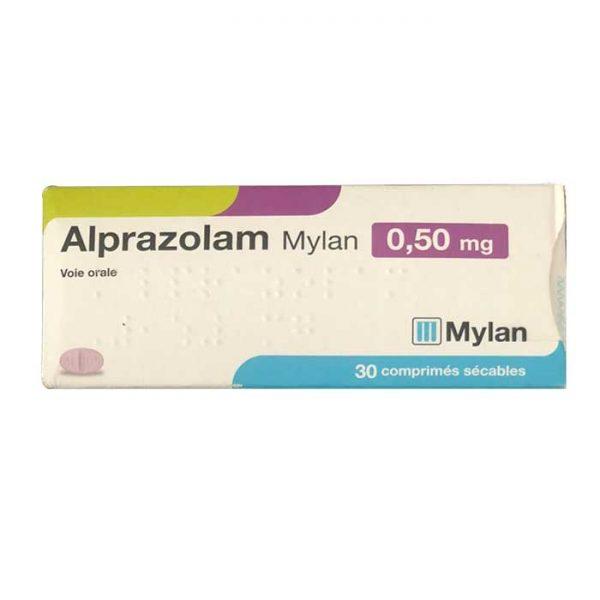 Thuốc an thần Alprazolam 0.25mg Mylan, Hộp 30 viên