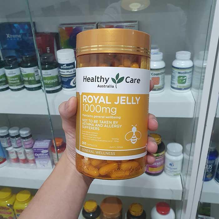 Sữa Ong Chúa Healthy Care Royal Jelly 1000mg, Chai 365 viên