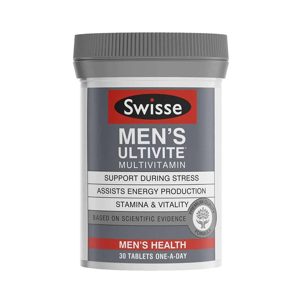 Swisse Men's Ultivite Multivitamin vitamin tổng hợp cho nam, Chai 30 viên