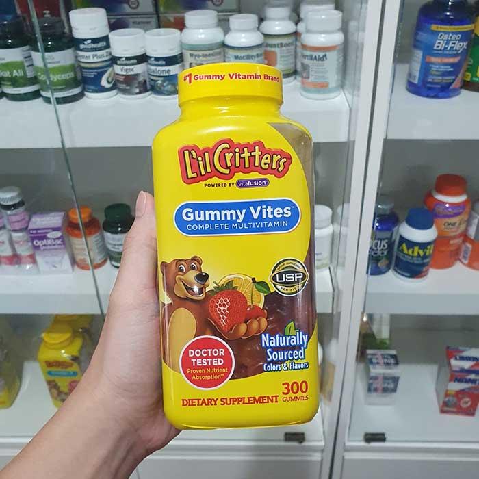 L'il Critters Gummy Vites Vitamin cho bé, Chai 300 viên