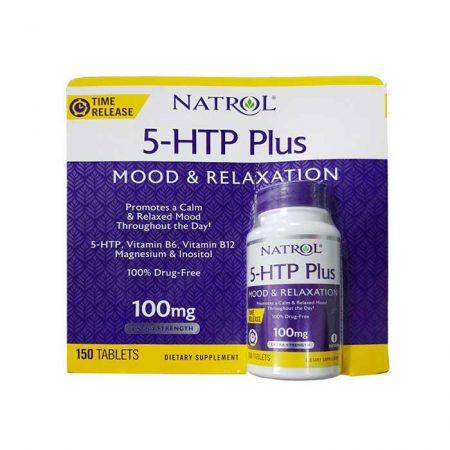 Thuốc giảm Stress Natrol 5-HTP Plus 100mg, Chai 150 viên