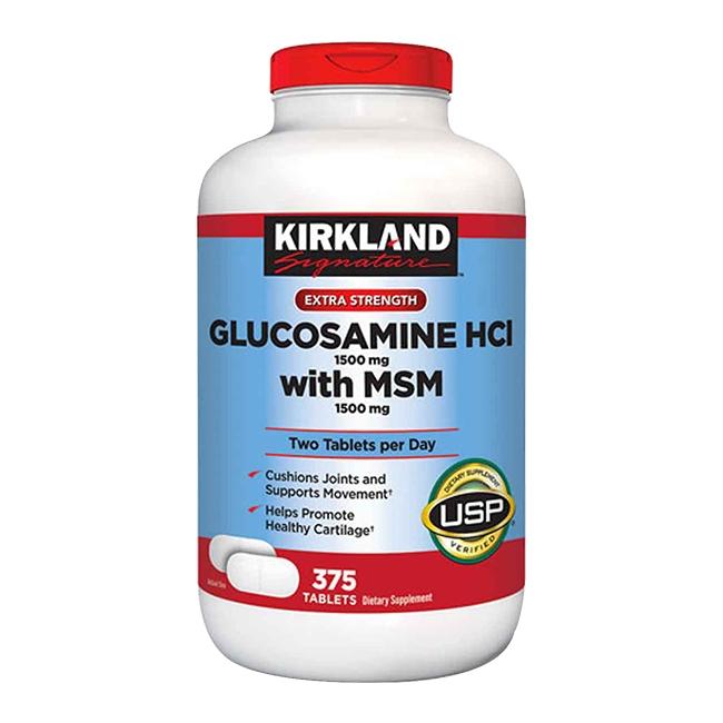 Thuốc Glucosamine HCl 1500mg with MSM 1500mg, Chai 375 viên