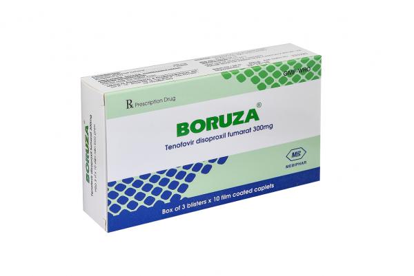 Thuốc trị viêm gan B Boruza, thuốc kháng virus, Hộp 30 viên