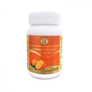 Thuốc Vitamin C Úc bổ sung Vitamin C và Kẽm, Chai 120 viên