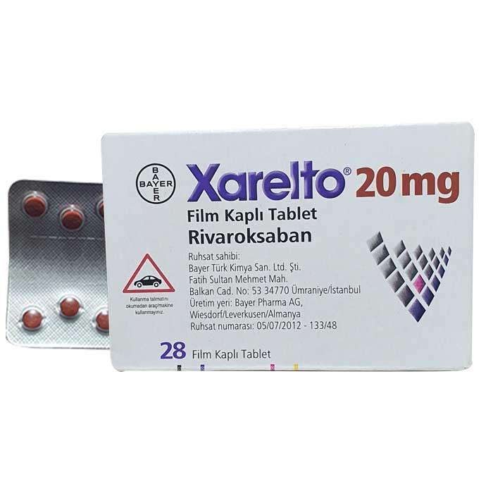Xarelto 20mg (Rivaroxaban) Thuốc chống đông máu, Hộp 28 viên