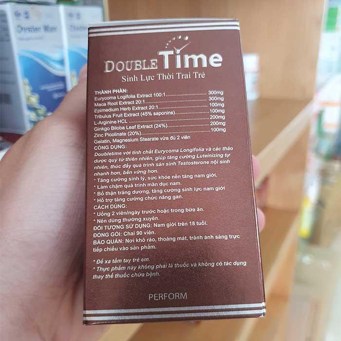 Thuốc bổ thận Double Time Hadariki tăng cường sinh lý nam, Chai 90 viên