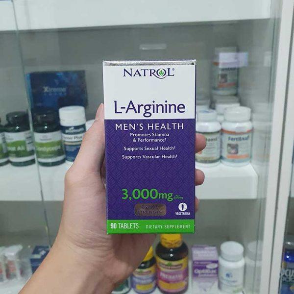 Thuốc tăng cường sinh lý nam Natrol L-Arginine 3000mg, Chai 90 viên