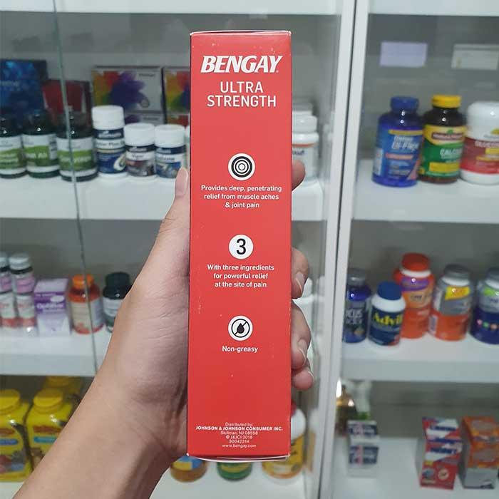 Bengay Ultra Strength Dầu nóng xoa bóp, Hộp 1 tuýp 113g
