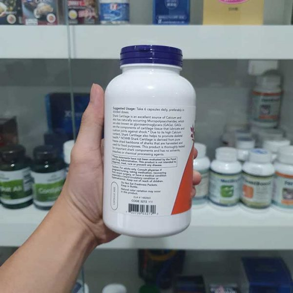 Sụn cá mập Now Shark Cartilage 750 mg