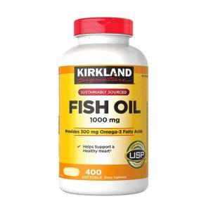 Dầu cá Omega 3 Fish Oil Kirkland 1000mg, Chai 400 Viên