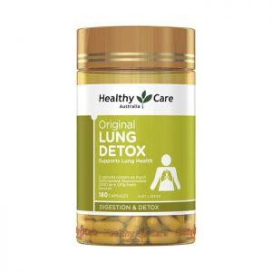 Healthy Care Lung Detox Thuốc giải độc phổi, Chai 180 viên