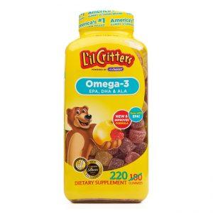L'il Critters Kẹo dẻo Omega 3 Vitafusion, Chai 220 viên