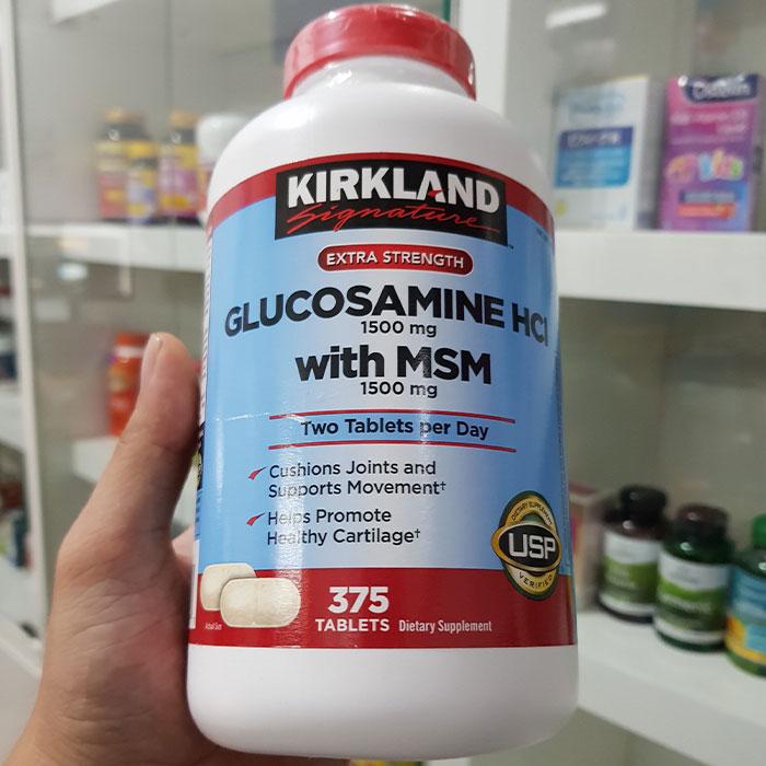Thuốc bổ khớp Kirkland Glucosamine HCL 1500mg with MSM 1500mg
