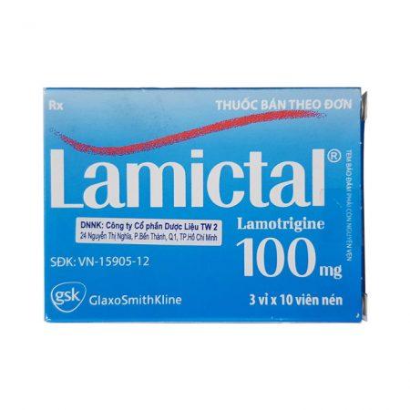Thuốc động kinh Lamictal 100mg