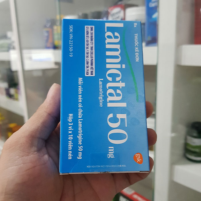 Thuốc động kinh Lamictal 50mg