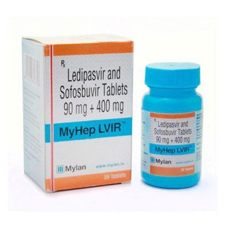 MyHep LVIR Mylan thuốc điều trị viêm gan C, Hộp 28 viên