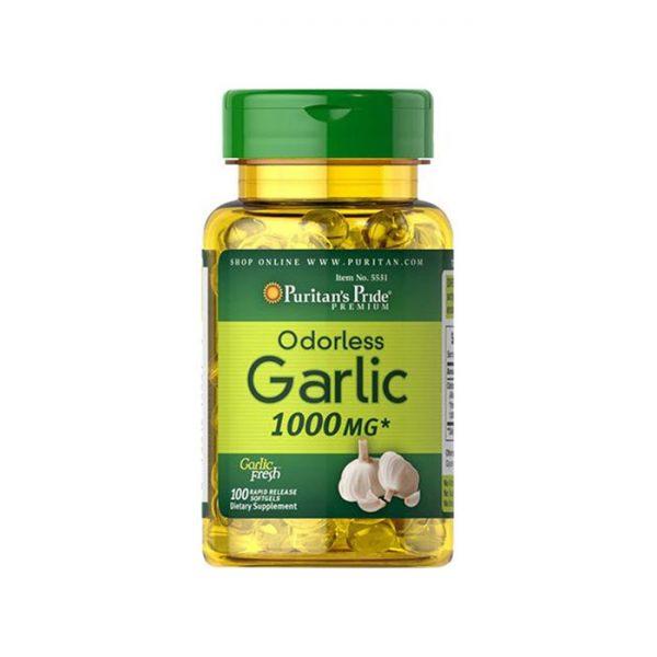 Tinh dầu tỏi Puritan's Pride Odorless Garlic Extract 1000mg
