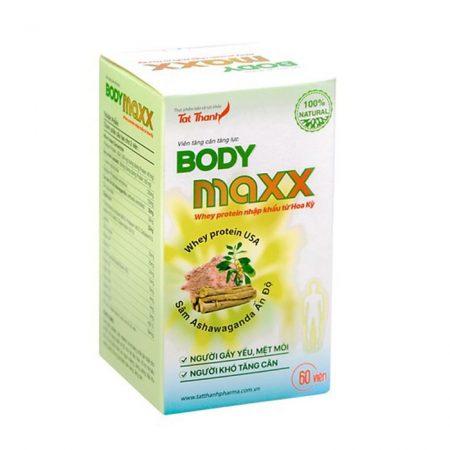 Body Maxx thuốc tăng cân, tăng lực Tất Thành, Chai 60 viên