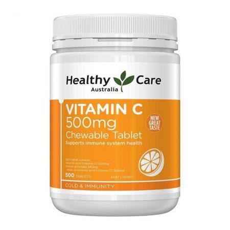 Viên nhai Vitamin C Healthy Care 500mg