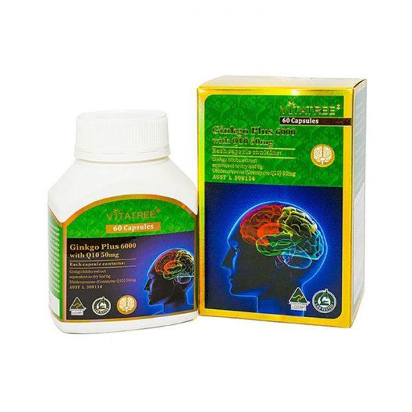 Viên uống bổ não Vitatree Ginkgo Plus Q10
