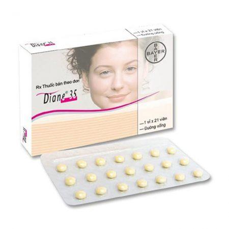 Thuốc nội tiết tố Diane 35 hộp 21 viên